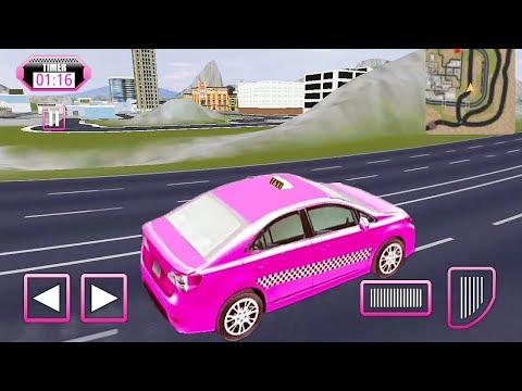 Pink Car Taxi Driver Game || Pink Car Games || Car Games || Car Racing Games 3D