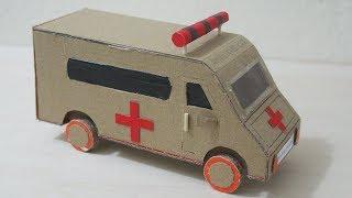 Wow! Amazing ambulance car, How to make ambulance car using cardboard 2017