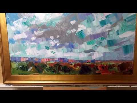 JOSE TRUJILLO eBay Art Auction! Huge Framed Impressionist Oil Painting Landscape