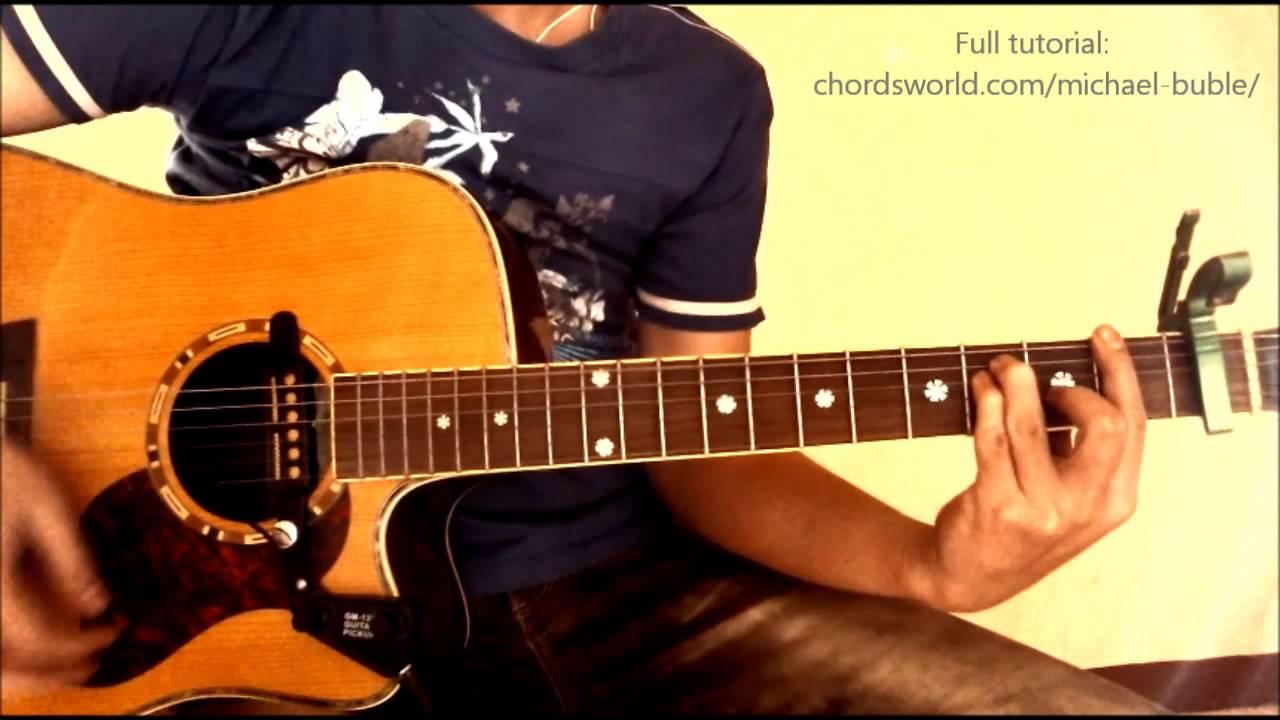 Its A Beautiful Day Chords Michael Bubl Chordsworld Guitar