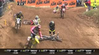 Tim Gajser crash MXGP of Latvia Race 2 - 2016