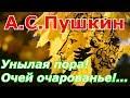 Стихи Унылая пора Очей очарованье А С Пушкин Слушать и смотреть видео образ A Pushkin mp3