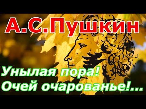 Стихи. Унылая пора! Очей очарованье! А.С.Пушкин. Слушать и смотреть видео-образ. A.Pushkin
