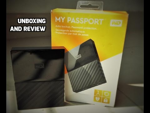 WD My Passport 1TB | Unboxing | Review | Comparison with WD Elements 1TB
