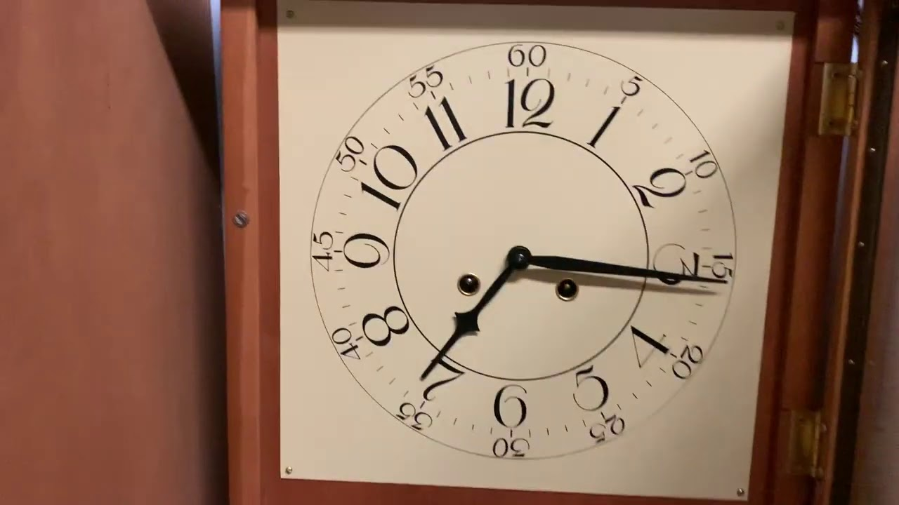 YET ANOTHER WINDING CLOCK VIDEO! Winding the Franz Hermle Bim-Bam Shelf/Wall Clock