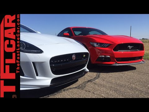 2015 Mustang Gt Vs 2016 Jaguar F Type R Performance Mashup Review