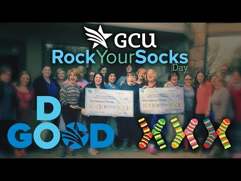 GCU supports Beaver PA Rocks its Socks!