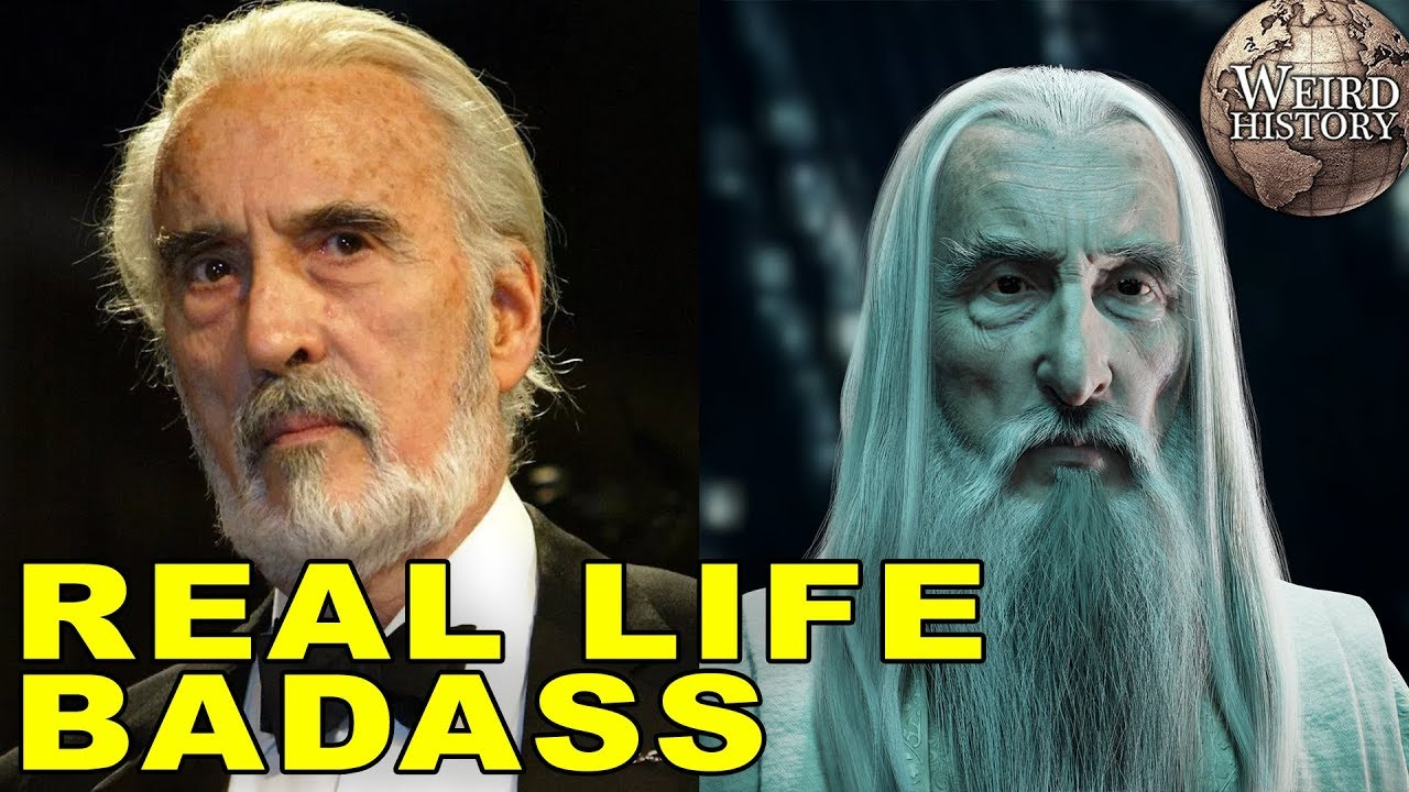Download Actor Christopher Lee Was A Real Life Badass