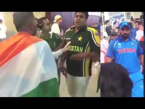 India vs Pakistan Fans Fight In Stadium After Champions Trophy 2017 Finals