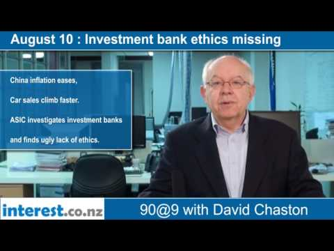 90 seconds @ 9am : Investment bank ethics missing