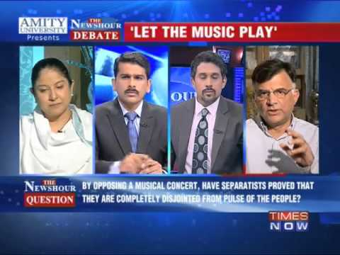The Newshour Debate: CM backs concert, separatists oppose - Part 1