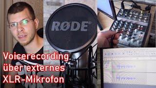 Externes XLR-Mikrofon mit Computer verbinden