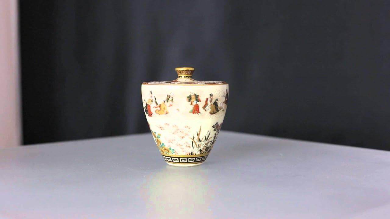 Japanese satsuma miniature vase yabu meizan meiji youtube japanese satsuma miniature vase yabu meizan meiji reviewsmspy