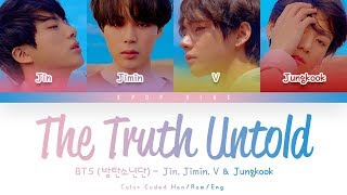 Gambar cover BTS (방탄소년단) - Undelivered Truth (전하지 못한 진심) (Feat. Steve Aoki)  (Color Coded Lyrics Han/Rom/Eng)