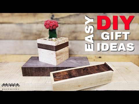 Scrap Wood Gifts - Succulent Planter and Pencil Box