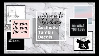 20 Bloxburg Aesthetic Decal ID's! (CODES IN DESCRIPTION)