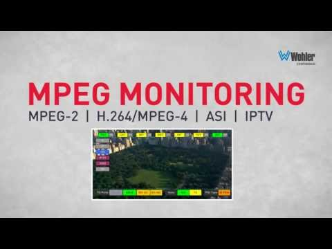MPEG-2 and MPEG-4/H.264 Monitoring and Analysis - MPEG Series