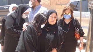 صلاة الجنازة على الفنان الراحل حسن حسني من مقابر الأسرة بطريق الفيوم