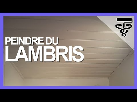 Comment peindre du lambris en blanc youtube for Peindre frisette