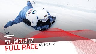 St. Moritz | BMW IBSF World Cup 2017/2018 - Men's Skeleton Heat 2 | IBSF Official