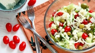 Shopska Salad Recipe - Bulgarian Food