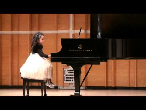 """Morning Mood"" played by Melisa Li (4 Years Old) at Merkin Concert Hall 2009"