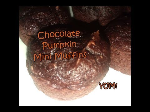 Chocolate Pumpkin Mini Muffins | YUM