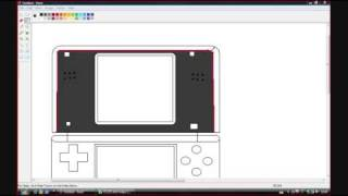 How to draw a Nintendo DS Lite using MS Paint (windows vista)