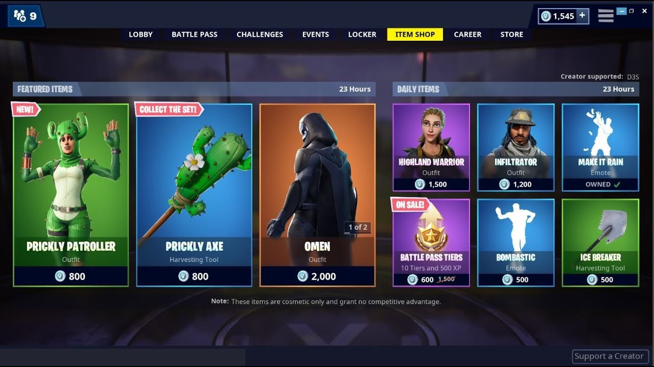 Fortnite Item Shop April 23 2019 | Fortnite Aimbot Code Pc