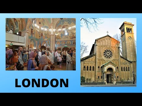LONDON: The RUSSIAN (Orthodox) CATHEDRAL, England