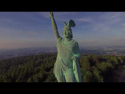 Paderborn Detmold Germany - Ariel footage