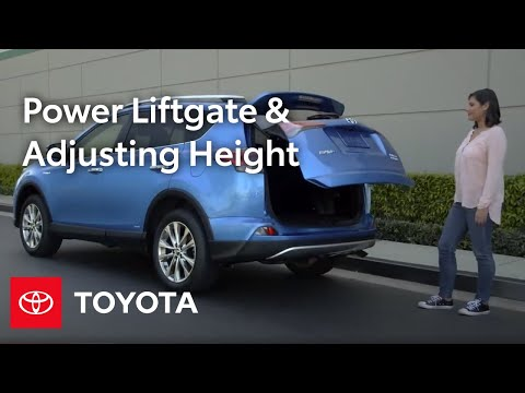 Toyota How-To: RAV4 and Highlander Power Liftgate Opening & Height Adjustability | Toyota