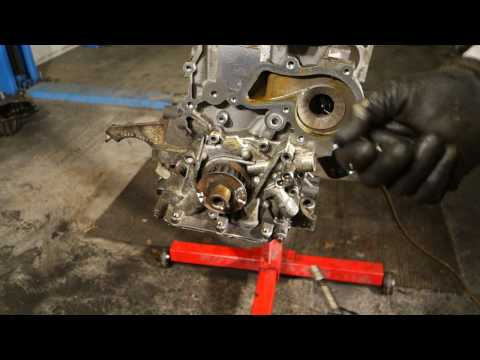 How to replace Ford  Zetec engine oil pump