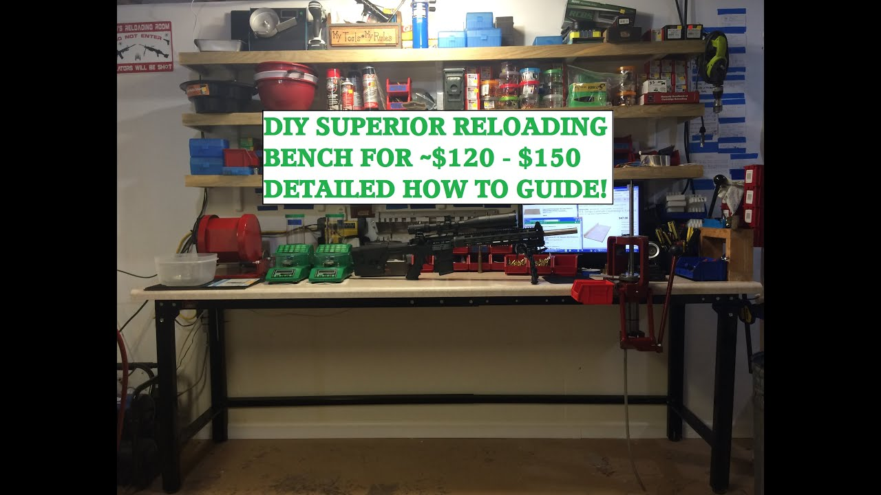Diy Superior Reloading Bench 120 150 With Hornady Lnl
