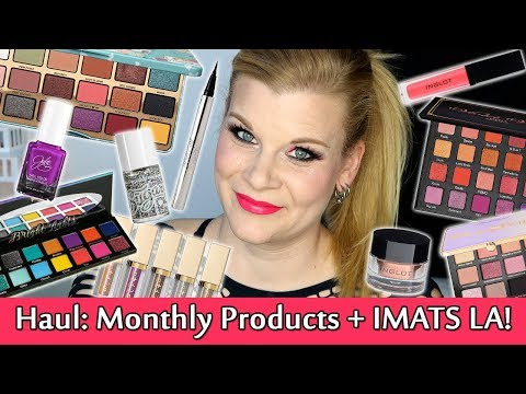 What I Bought This Month - January 2018 Beauty Haul + IMATS LA!   Makeup Your Mind