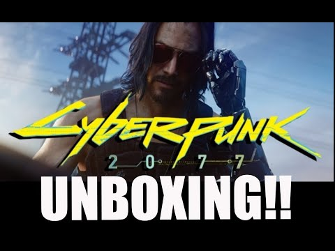 cyberpunk-2077-collectors-edition-statue-unboxing!!