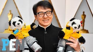 Jackie Chan Introduces His Panda Stuffed Animals | PEN | People | PEOPLE