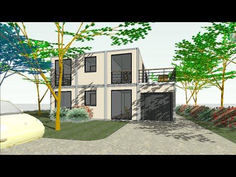 Visite virtuelle maison container r 1 co 13180 d t5 for Maison container youtube