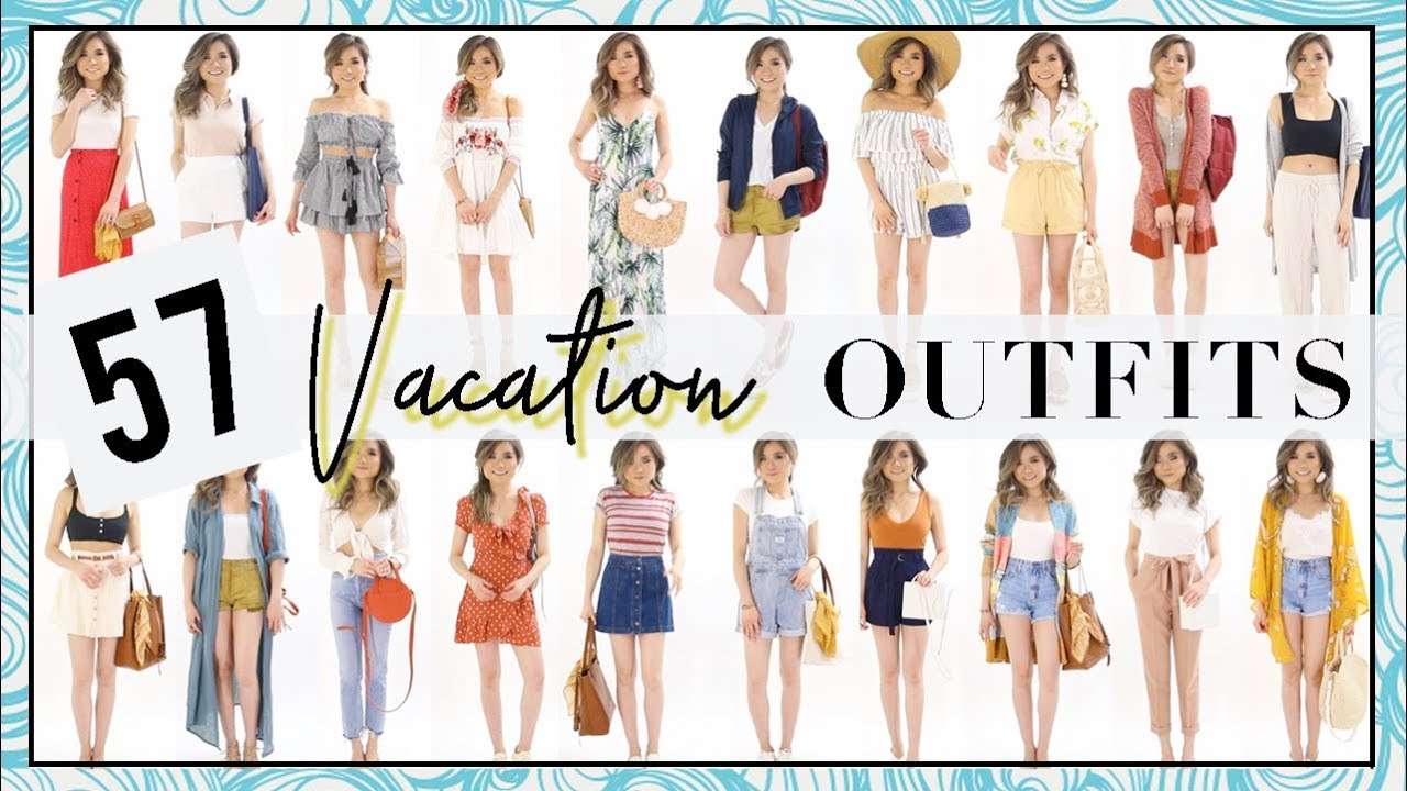 2883ea0a9150 57 SUMMER VACATION Outfit Ideas! | Summer Outfits Fashion Lookbook 2018 |  Miss Louie