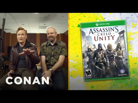 "Thumbnail: Clueless Gamer: Conan Reviews ""Assassin's Creed: Unity"" - CONAN on TBS"