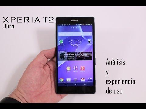 Sony Xperia T2 Ultra, Análisis y experiencia de uso en Español