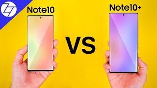 Samsung Galaxy Note 10 vs Note 10 Plus  - The ULTIMATE Comparison!