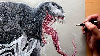 Drawing Venom - Marvel - Time-lapse   Artology