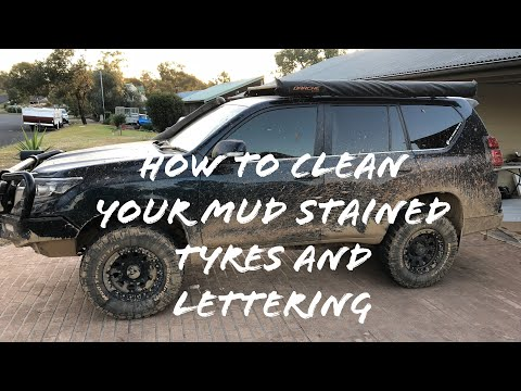 Cleaning Your Muddy Tyres - White Writing - EASY DIY