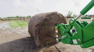 How To Spear A Large Round Bale