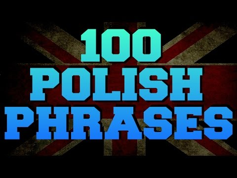 Polish language 100 most frequently used phrases and words