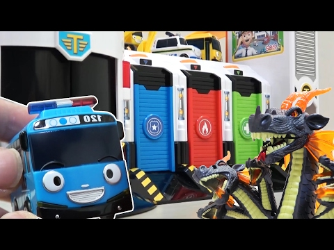 Thumbnail: Tayo the Little Bus WAR & Dragon VS Garbage Truck / A Police Station