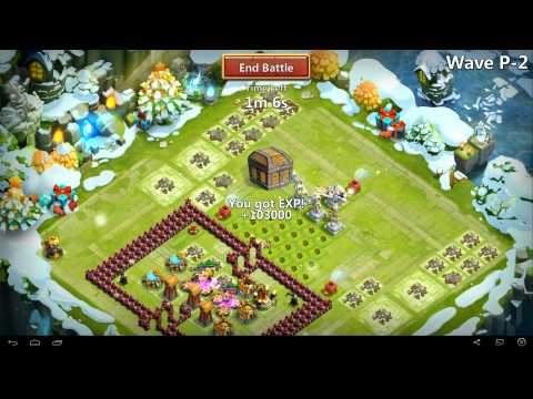 Castle Clash - Farming HBM P With 5 Heroes No Garrison