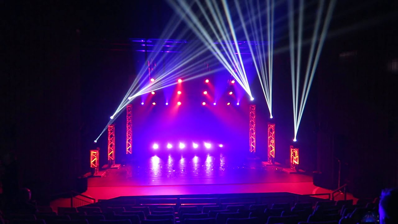 McMillan Theatre - Light Show - YouTube