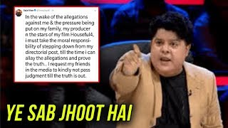 Sajid Khan SHOCKING REACTION To The Allegations Imposed On Him